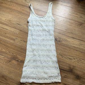 Ardene white lace midi dress